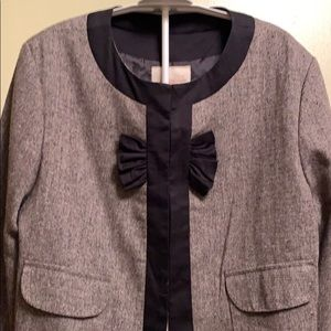 Anthropologie black bow short jacket